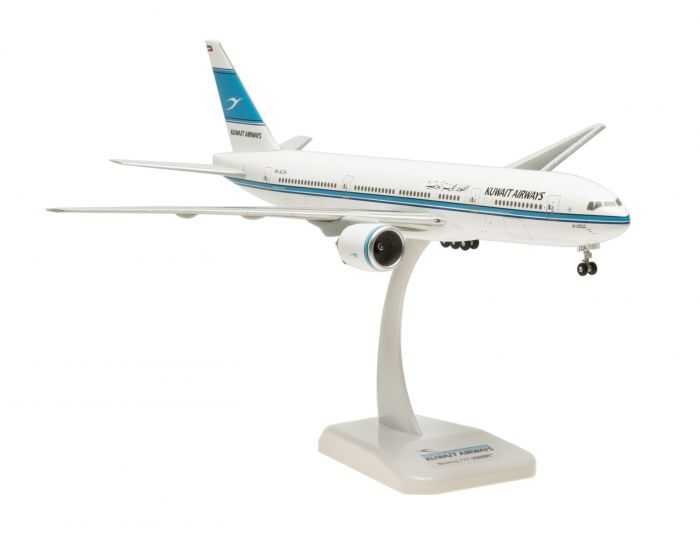 "Kuwait 777-200er (1:200) ""Al Qurain"" 9K-AOA  by Hogan Wings Collectible Airliner Models item number: HG0137G"