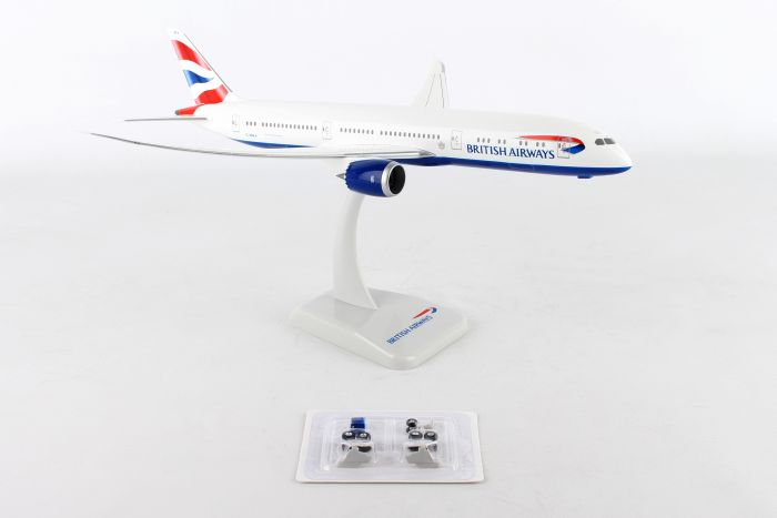 British Airways 787-9 with Gear G-ZBKA Inflight Wings (1:200) by Hogan Wings Collectible Airliner Models item number: HG10451G