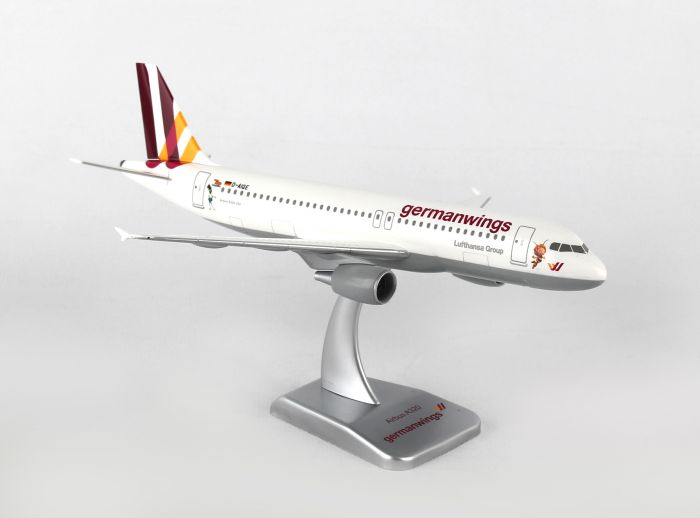 "Germanwings A320 (1:200) ""Biene Maja"" No Gear D-AIQE by Hogan Wings Collectible Airliner Models item number: HGGW02"