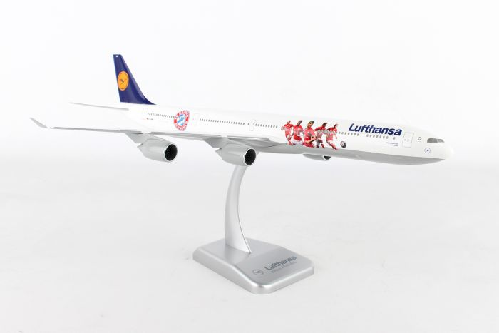 "Lufthansa A340-600 ""Football Cup Bayern Munchen"" (1:200) by Hogan Wings Collectible Airliner Models item number: HGLH49"