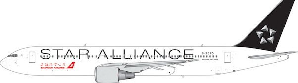 Shanghai Arilines B767-300 ?Star Alliance? B-2570 ((1:400))