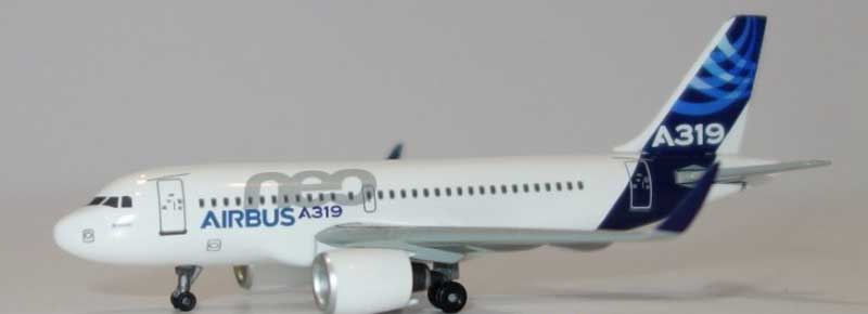 Airbus A319 Neo, with Sharklets, Corporate Model (1:400)