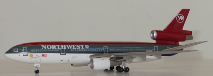 Northwest DC-10-30 Special marking N232NW, AeroClassics Models Item Number AC19146