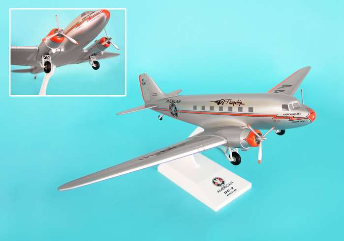 "American Airlines DC-3 ""Flagship Tulsa"" (1:80) W/Gear, SkyMarks Airliners Models Item Number SKR539"