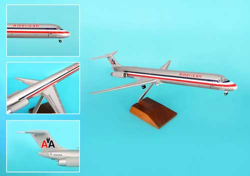 American MD-80 W/Wood Stand & Gear (1:100)