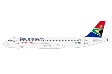 South African Airways A320 ZS-SZY (1:400), AeroClassics Models Item Number AC19125