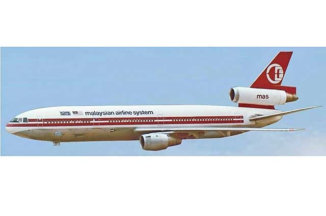 Malaysian DC-10-30 9M-MAS (1:500) - Preorder item, order now for future delivery