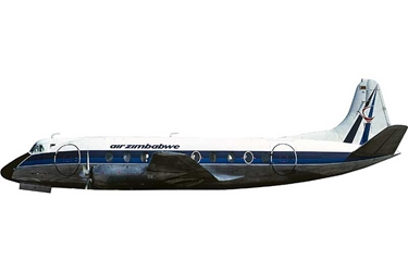 Air Rhodesia Viscount 700 VP-YNL (1:400)