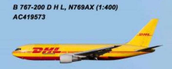 DHL 767-200 (1:400) by AeroClassics Models Item Number: AC419573