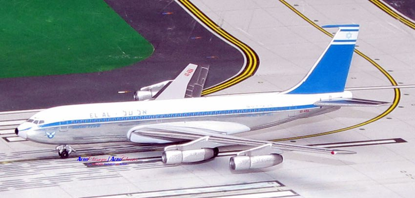 EL AL Israel Airlines B720B Delivery Colors 4X-ABA (1:400), AeroClassics Models Item Number ACELY0616