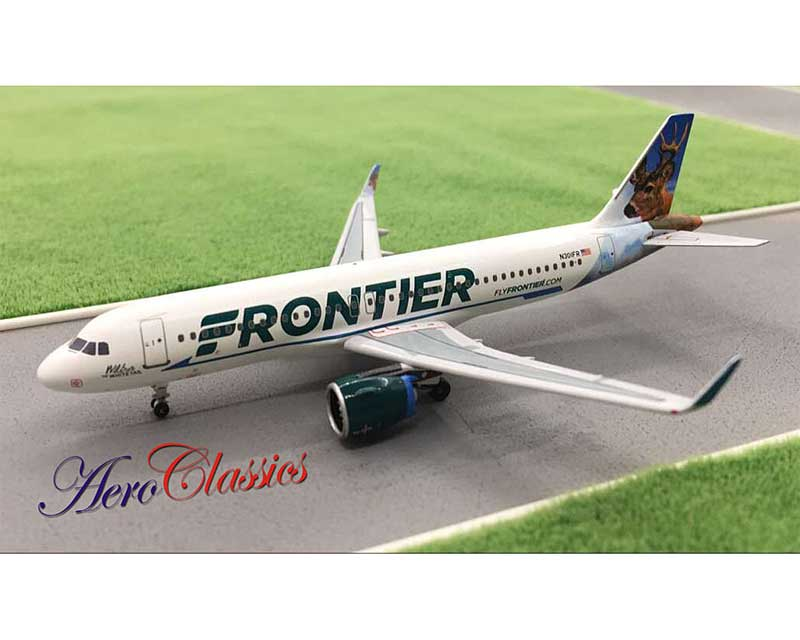 Frontier Airlines A320Neo N301FR Caribou Tail (1:400)
