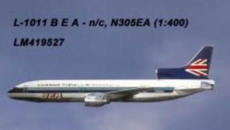 "BEA L-1011 N305EA ""Lockheed Tristar"" (1:400) by Lochness Airplane Models Item Number: LM419527"