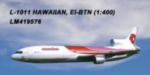 Hawaiian Airlines L-1011 EI-BTM (1:400) by Lochness Airplane Models Item Number: LM419576