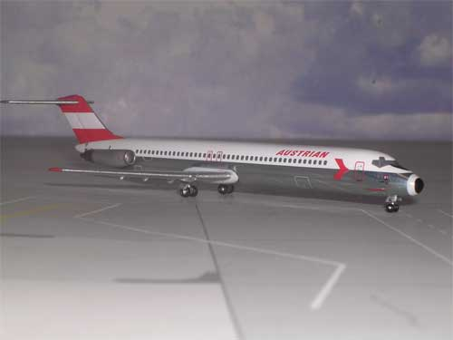 Austrian Airlines DC-9-51 OE-LDL (1:400), Aurora Diecast Airliners Item Number AM006