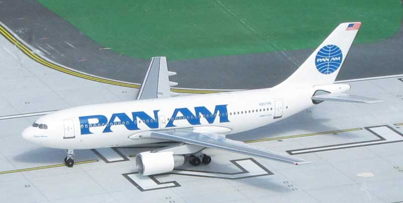 Pan American World Airways A310-222, N801PA, 1990s Billboard Colors (1:400), Byrd Models Item Number VMN801PA