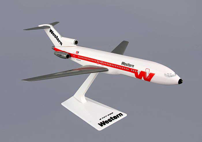 Western 727-200 (1:200), Flight Miniatures Snap-Fit Airliners, Item Number FMWAL015