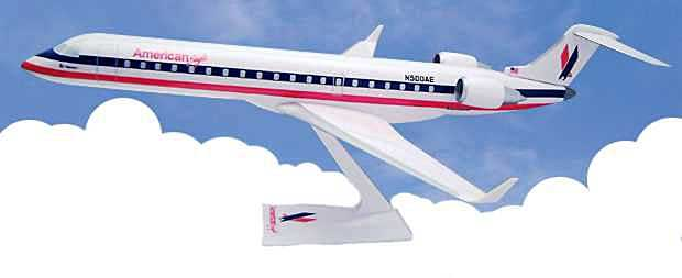 American Eagle CRJ700 (1:100) by Flight Miniatures Snap-Fit Airliners Item Number: CA-70000C-001