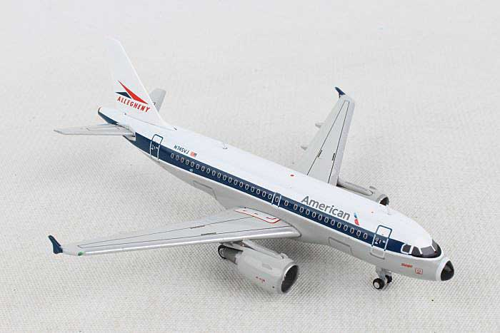"American A319 ""Allegheny Livery"" N745VJ (1:400) by GeminiJets 400 Diecast Airliners item number: GJAAL1133"