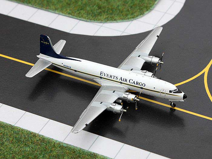 Everts Air Cargo DC-6 N100CE (1:400), GeminiJets 400 Diecast Airliners, Item Number GJVTS1151