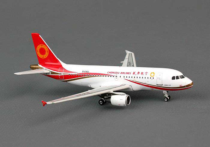 Chengdu Airlines A319 B-6163 (1:400), Phoenix 1:400 Scale Diecast Aircraft, Item Number PH4UEA1141