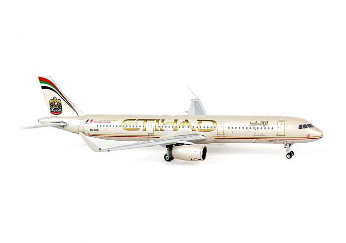 Etihad A321 Sharklets A6-AEA (1:400), Phoenix 1:400 Scale Diecast Aircraft, Item Number PH4ETD1166