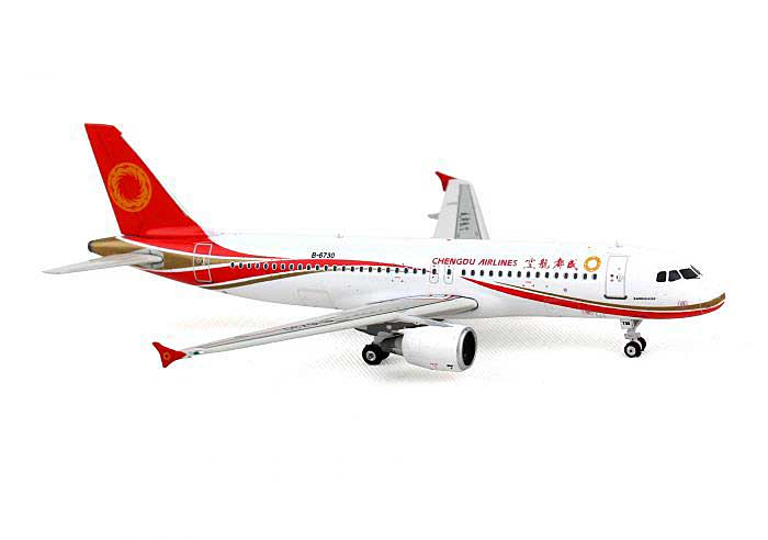 Chengdu Airlines A320 with Sharklets B-6730 (1:400), Phoenix 1:400 Scale Diecast Aircraft, Item Number PH4UEA1254