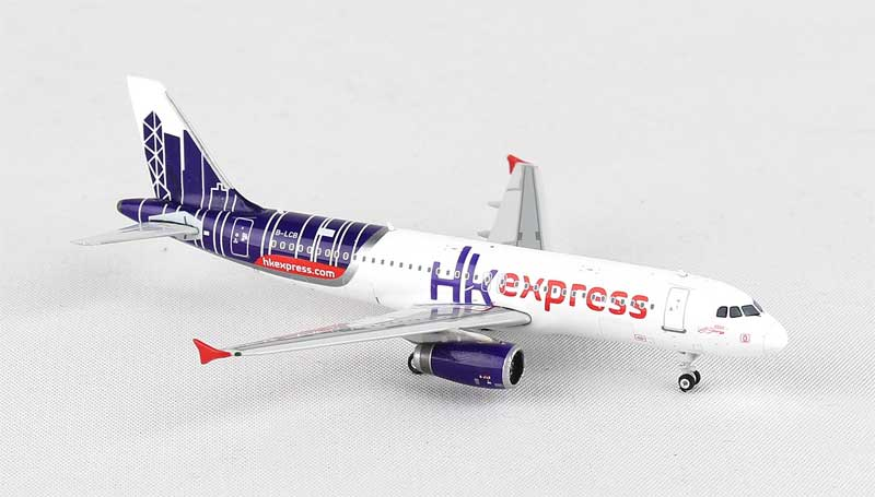Hong Kong Express A320 Sharklet B-LCB (1:400), Phoenix 1:400 Scale Diecast Aircraft, Item Number PH4HKE1315
