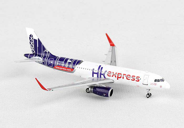 Hong Kong Express A320 Sharklet B-LCD (1:400), Phoenix 1:400 Scale Diecast Aircraft, Item Number PH4HKE1316