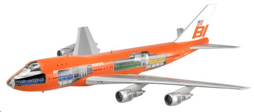 "Braniff International 747-127 ""Flying Colors"" (1:144) - Cutaway Model!, DragonWings 1:144 scale Diecast Warbirds Item Number DRP47011"