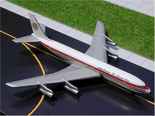 EgyptAir B707 (1:400) - in metal tin box - SkyJets, GeminiJets 400 Diecast Airliners Item Number GJMSRXXX