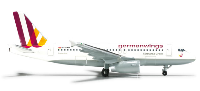 Germanwings A319 (1:500) New Livery, Herpa 1:500 Scale Diecast Airliners Item Number HE524261