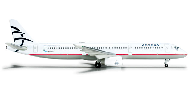 Aegean A321 (1:500), Herpa 1:500 Scale Diecast Airliners Item Number HE524476