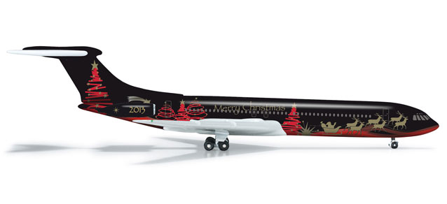 Christmas Special 2013 VC-10 (1:500), Herpa 1:500 Scale Diecast Airliners Item Number HE524513
