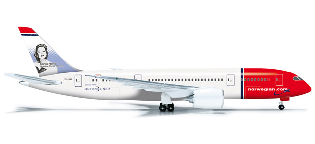 "Norweigian Air Shuttle 787-8 ""Sonja"" (1:500) REG# EI-LNA, Herpa 1:500 Scale Diecast Airliners Item Number HE524582"