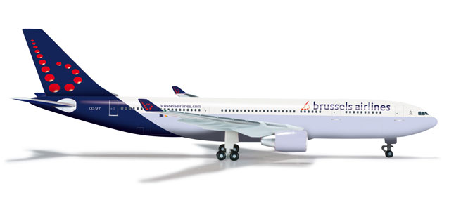 Brussels A330-200 (1:500), Herpa 1:500 Scale Diecast Airliners Item Number HE526074