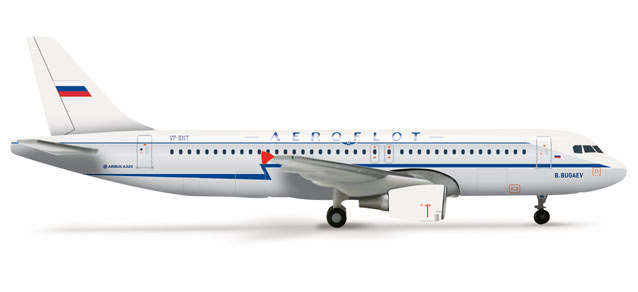 Aeroflot A320 (1:400) Retrojet VP-BNT, Herpa 1:400 Scale Diecast Airliners Item Number HE562379