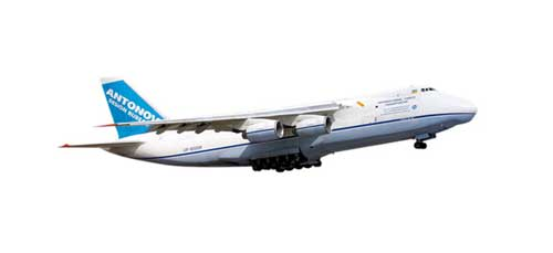 Antonov AN-124 (1:500), Herpa 1:500 Scale Diecast Airliners Item Number HE507561