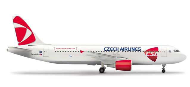 CSA A320 (1:500) OK-GEB, Herpa 1:500 Scale Diecast Airliners Item Number HE509565-001