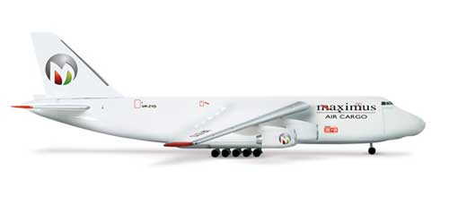 Maximus Air Cargo AN-124 (1:500), Herpa 1:500 Scale Diecast Airliners Item Number HE517577