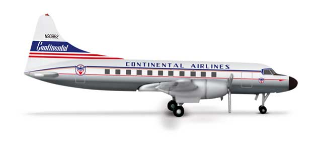 Contintental Airlines Convair 440 (1:500), Herpa 1:500 Scale Diecast Airliners Item Number HE517843