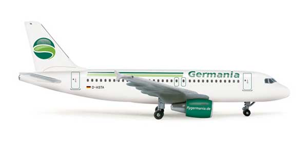 Germania A319 (1:500), Herpa 1:500 Scale Diecast Airliners Item Number HE518703