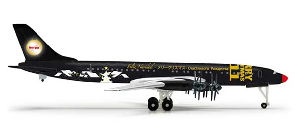 Christmas TU114 2011 (1:500), Herpa 1:500 Scale Diecast Airliners Item Number HE518772