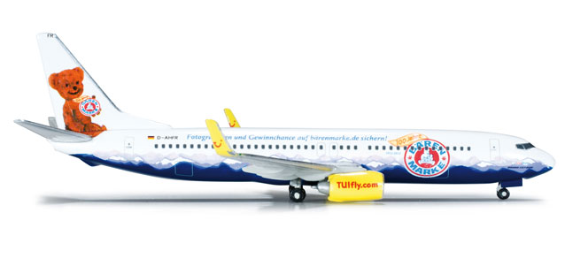 Tuifly 737-800 (1:500) Barenmarke, Herpa 1:500 Scale Diecast Airliners Item Number HE523400