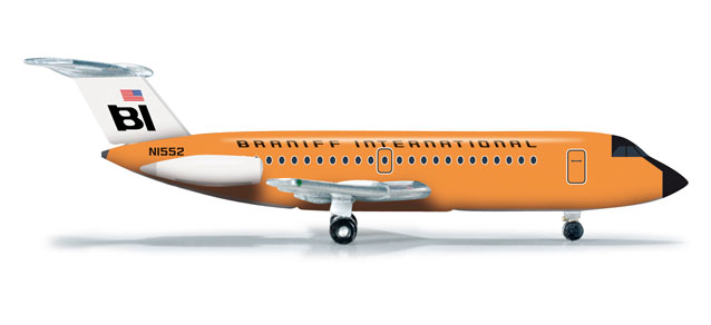 Braniff BAC-111-200 (1:500), Herpa 1:500 Scale Diecast Airliners Item Number HE523677