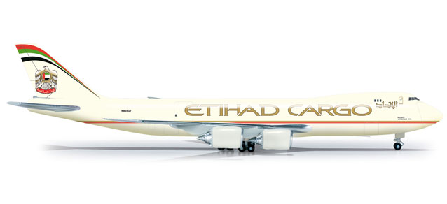 Etihad Cargo 747-8F (1:500), Herpa 1:500 Scale Diecast Airliners Item Number HE524711