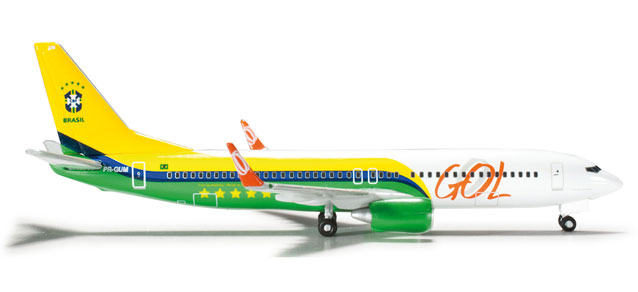 GOL 737-800 (1:500) Brazil National Football, Herpa 1:500 Scale Diecast Airliners Item Number HE524735