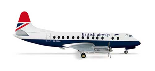 British Airways VISCOUNT 800 (1:200), Herpa 1:200 Scale Diecast Airliners Item Number HE554053