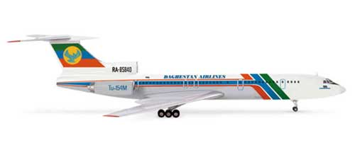 Daghestan TU154M (1:200), Herpa 1:200 Scale Diecast Airliners Item Number HE554244