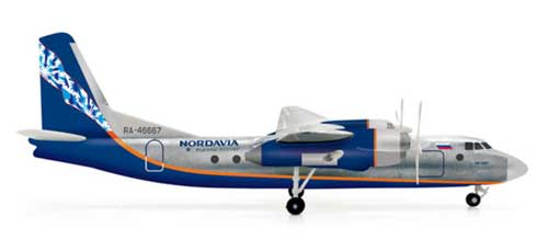 Nordavia AN24RV (1:200), Herpa 1:200 Scale Diecast Airliners Item Number HE554268