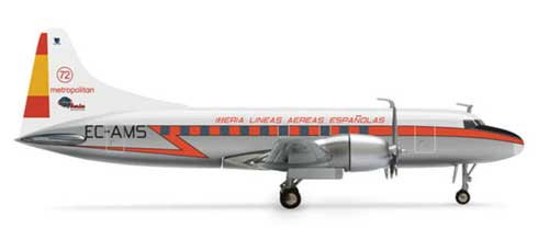 Iberia CV-440 (1:200), Herpa 1:200 Scale Diecast Airliners Item Number HE554336